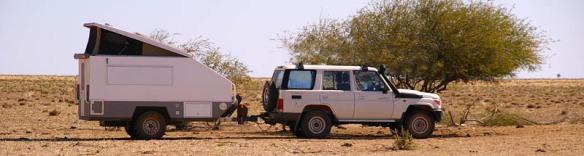 Landcruiser and caravan NT