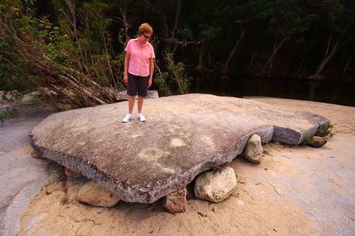 Weird granite slab