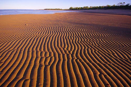 Sand Ripples Carmila Beach Queensland
