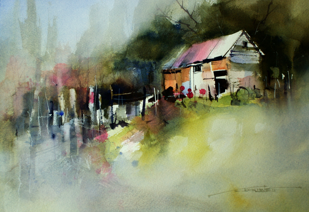 Presenting john lovett s watercolor paintings xenia nova for John s painting
