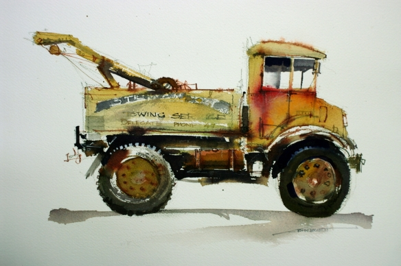 Blitz Truck Watercolor