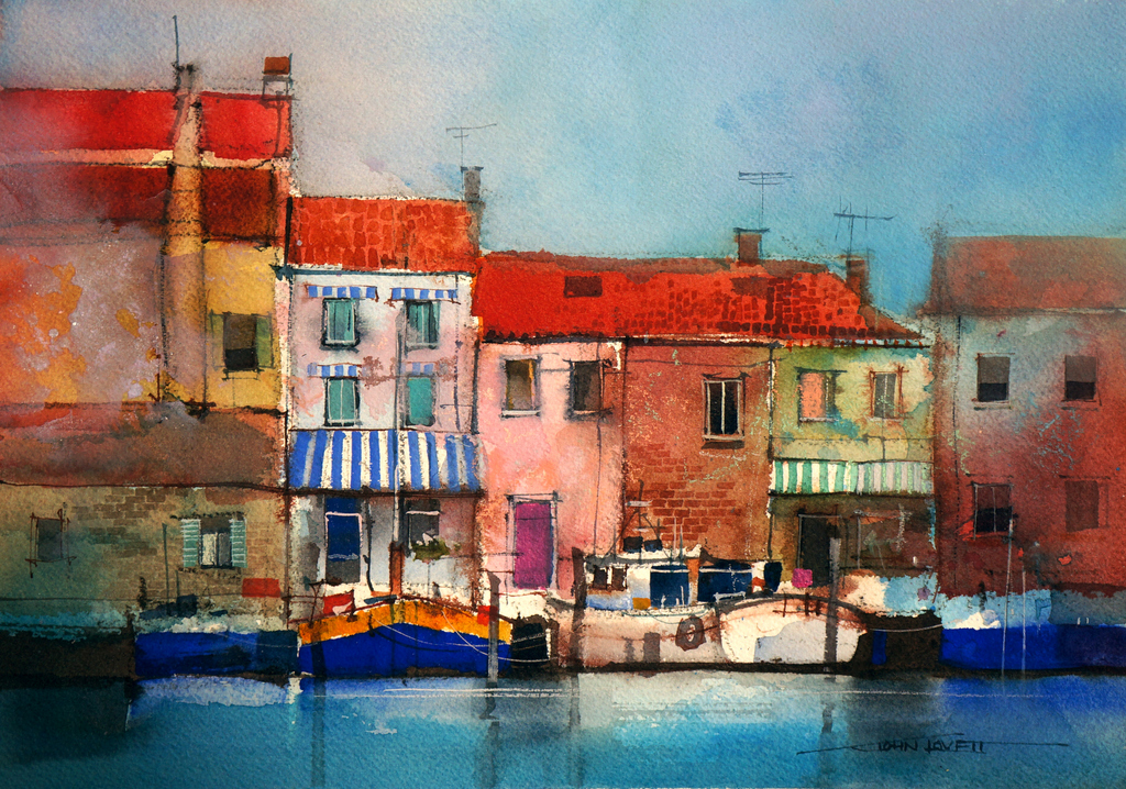 Watercolor Demonstration Splashing Paint